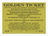 Golden Ticket Birthday Invitation Personalized Golden Ticket Invitations