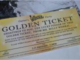 Golden Ticket Birthday Invitation Serendipity soiree Invitation Willy Wonka and the