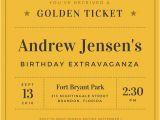 Golden Ticket Birthday Invitation Vintage Invitation Templates Canva