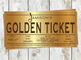 Golden Ticket Birthday Invitation Willy Wonka Golden Ticket Birthday Invitation Willy by