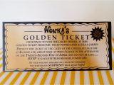 Golden Ticket Birthday Invitation Willy Wonka Golden Ticket Invitation Digital Printable