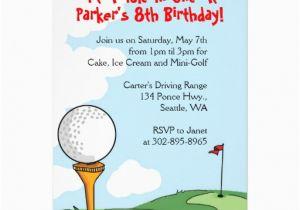 Golf Themed Birthday Invitations Free Printable Mini Party