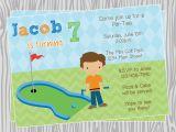 Golf themed Birthday Invitations Golf Birthday Invitations Template Resume Builder