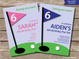 Golf themed Birthday Invitations Golf Invitation Printable Golf Party Invitation Golf Birthday