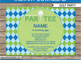 Golf themed Birthday Invitations Golf Party Invitations Template Golf Birthday Party