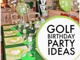 Golf themed Birthday Party Decorations Golf themed 6th Birthday Boy Party Spaceships and Laser