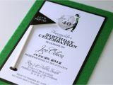 Golf themed Birthday Party Invitations 40th Birthday Golf themed Invitations Embellished