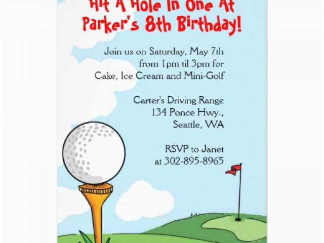 Download By SizeHandphone Tablet Desktop Original Size Back To Golf Themed Birthday Party Invitations