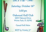 Golf themed Birthday Party Invitations Golf Party Invitation