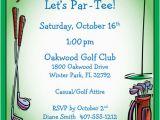 Golf themed Birthday Party Invitations Golf Party Invitation