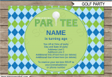 Golf themed Birthday Party Invitations Golf Party Invitations Template Golf Birthday Party