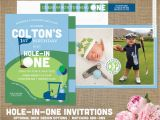 Golf themed Birthday Party Invitations Hole In One Golf Birthday Invitations Golf Ball Golf Cart