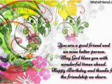 Good Birthday Cards for Friends Good Friendship Birthday Quotes Quotesgram
