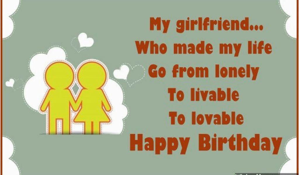 Good Birthday Cards For Girlfriend Wishes