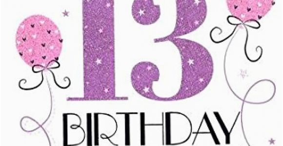 Granddaughter 13th Birthday Card Icg Sister 70th Birthday Card Big Pink Purple Lilac