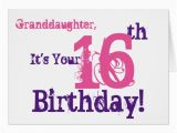 Granddaughter 16th Birthday Cards Granddaughter 39 S 16th Birthday In Purple Pink Card