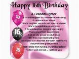 Granddaughter 16th Birthday Cards Granddaughter Poem 16th Birthday Square Sticker Zazzle