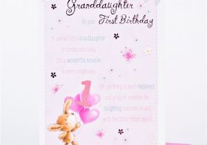 Granddaughter 1st Birthday Card Verses For A Special Only 89p