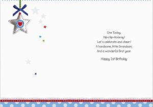 Granddaughter 1st Birthday Card Verses Tale