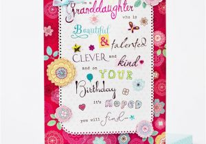 Granddaughter Birthday Card Images Boxed Birthday Card Beautiful Granddaughter Only 1 99
