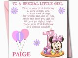 Granddaughter First Birthday Card Personalised Personalised Minnie Girl Daughter Granddaughter Babies