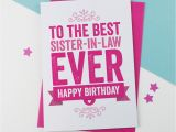 Granddaughter In Law Birthday Card Birthday Card for Sister In Law by A is for Alphabet