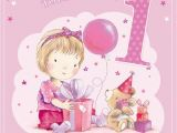 Granddaughters 1st Birthday Card Great Granddaughter 1st 1 today Little Girl Bear with