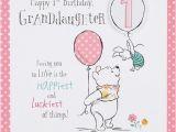 Granddaughters 1st Birthday Card Winnie the Pooh Granddaughter 1st Birthday Card Disney New