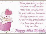 Grandma Birthday Card Sayings 80th Birthday Wishes Wishesmessages Com