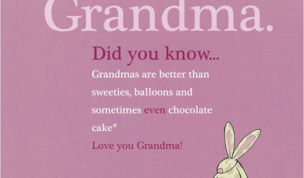 Download By SizeHandphone Tablet Desktop Original Size Back To Grandma Birthday Card Sayings