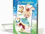 Grandson Birthday Cards Age 3 Grandson Birthday Age 2 soccer Bunny Card 1290252
