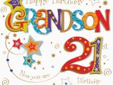Grandson Birthday Wishes Greeting Cards Grandson 21st Birthday Greeting Card Cards