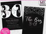 Graphic Design Birthday Invitations Modern 30th Birthday Invitations by Metro Designs Graphic