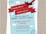Graphic Design Birthday Invitations Retro Airplane Birthday Invitation Aviator Invitation