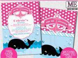 Graphic Design Birthday Invitations Whale Invitations First Birthday Invitations by Metro