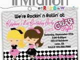 Grease Birthday Invitations 795 Diy 1950 39 S Grease Style Party Invitation or Thank