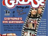Grease Birthday Invitations Grease 50s Fifties sock Hop Dance Birthday Party