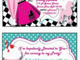 Grease Birthday Invitations Grease 50s Personalized Invitation Thank You Card and