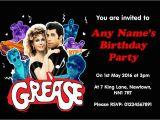 Grease Birthday Invitations Grease Party Invitations Cimvitation