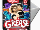 Grease Birthday Invitations Grease Personalised Birthday Card Large A5 Ebay