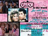 Grease Birthday Invitations Set Of 8 Grease Inspired Birthday Invitations or Set Of 8
