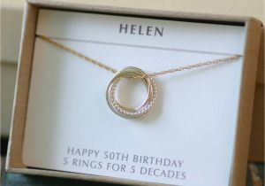 Great 50th Birthday Gifts For Her Gift Sister Jewelry 5 Best Friends