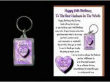 Great 50th Birthday Gifts for Husband 50th Happy Birthday Husband Card Keyring 50 today Gift Ebay