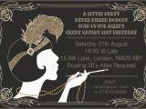 Great Gatsby Birthday Card 10 X Great Gatsby Personalised Birthday Party Invitations