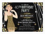 Great Gatsby Birthday Card Great Gatsby Art Deco Birthday Invitation Zazzle