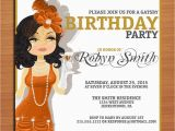 Great Gatsby Birthday Card Great Gatsby Flapper Birthday Customized Printable Adult