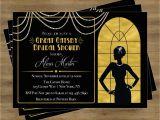 Great Gatsby Birthday Card Great Gatsby Invitation Gatsby Bridal Shower Invitation