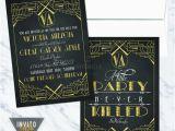 Great Gatsby Birthday Card Great Gatsby Invitation
