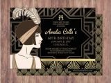 Great Gatsby Birthday Card Great Gatsby Save the Date Invitation Rsvp Card Roaring