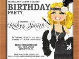 Great Gatsby Birthday Card Great Gatsby Silver Flapper Birthday Customized Printable